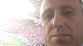 """PENNAROSSONERA SEMPRE PRESENTE: IL DIRETTORE TOLOMEO INSIEME AL SUO STAFF ALL'OLIMPICO DI ROMA PER SEGUIRE LA FINALE TIM CUP """"MILAN-JUVENTUS"""""""