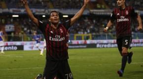 Milan 2 – 0 Lazio: decidono Bacca e Niang, rossoneri secondi per una notte