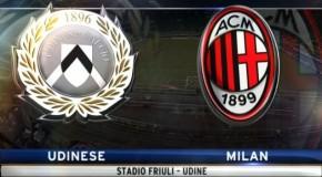 UDINESE-MILAN, 2-1 IL TABELLINO