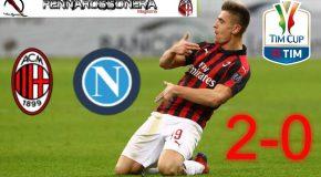 """QUARTI DI FINALE TIM CUP """"MILAN-NAPOLI"""": 2-0 IL TABELLINO"""