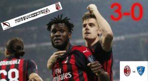 MILAN-EMPOLI: 3-0 IL TABELLINO