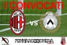 MILAN-UDINESE: I CONVOCATI
