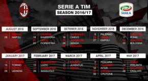 CALENDARIO SERIE A AC MILAN 2019/2020