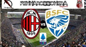 Milan – Brescia 1 a 0 – Le statistiche della partita